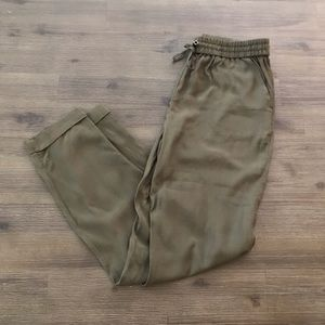 Olive Green Lightweight Joggers